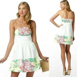 Lilly Pulitzer Strapless Lottie Mini Dress Sz8 NEW